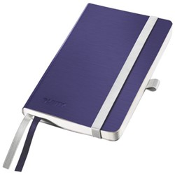 Notitieboek Leitz Style zachte kaft A6 lijn titaniumblauw