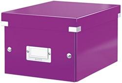 Opbergbox Leitz Click & Store 200x148x250mm paars