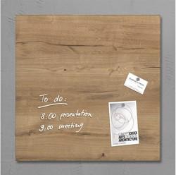 Glasbord Sigel magnetisch 480x480x15mm natural wood