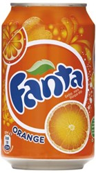 FRISDRANK FANTA ORANGE DANISH 33 CL TRAY A 24 BLIK