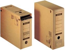 Archiefdoos Leitz Premium 12x275x325mm met afsluitklep bruin