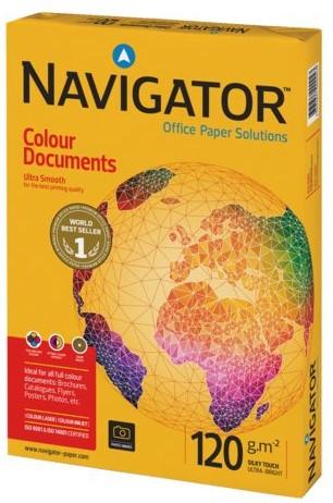 Kopieerpapier Navigator Colour Documents A4 120gr wit 250vel 250 VEL