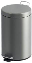 Afvalbak pedaalemmer RVS mat rond 12 liter