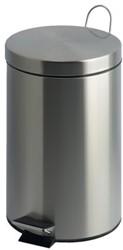 Afvalbak pedaalemmer RVS mat rond 20 liter