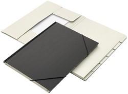 Combinatiemap Jalema 7 vakken met tab folio zwart
