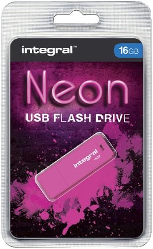 USB-stick 2.0 Integral 16Gb neon roze