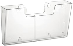 Folderhouder Nedco 39800 wand 4xA4 liggend transparant