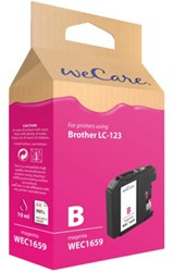Inkcartridge Wecare Brother LC-123 rood
