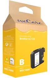 Inkcartridge Wecare Brother LC-123 geel
