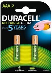 Batterij oplaadbaar Duracell 2xAAA 850mAh Ultra