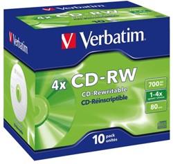 CD-RW Verbatim 700MB 80min 12X jewelcase