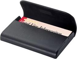 Visitekaartenhouder Sigel VZ270 Torino 25 kaarten magneetslot zwart