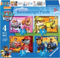 Puzzel Ravensburger Puppies op pad 4x puzzels 12+16+20+24 st