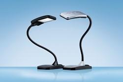 Bureaulamp Hansa ledlamp Twist zilvergrijs