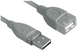 Kabel Hama USB 2.0 Extension 180cm grijs