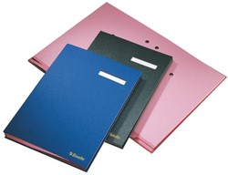 Vloeiboek Esselte 6210 karton 20tabs zwart