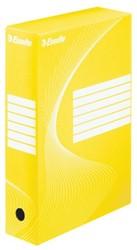 Archiefdoos Esselte boxy 80mm geel