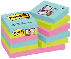 Memoblok 3M Post-it 622-SSMI Super Sticky 47.6x47.6mm Miami