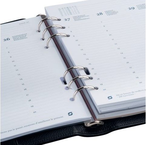 Agenda 2020 organizer Succes A5 Executive inhoud zwart-3