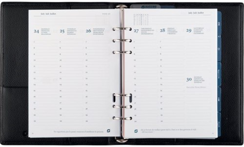Agenda 2019 organizer Succes A5 Executive inhoud zwart