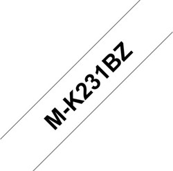 Labeltape Brother P-touch MK231 12mm zwart op wit