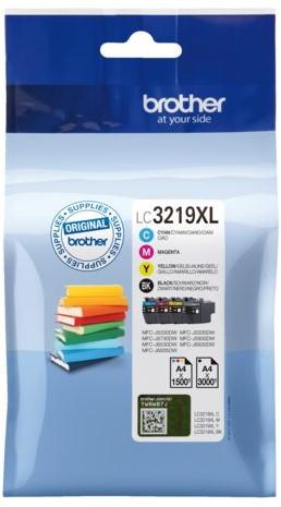 Inkcartridge Brother LC-3219XL zwart + 3 kleuren HC