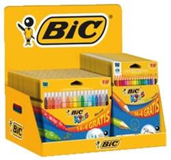 Kleurpotloden en kleurstiften Bickids display à 48 stuks ass