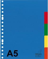 Tabbladen Kangaro A5 17-gaats A505M 5-delig assorti PP