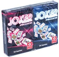 Speelkaarten Cartamundi Joker rood en blauw