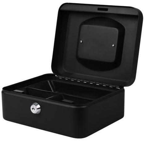 Geldkist Pavo 200x160x90mm zwart