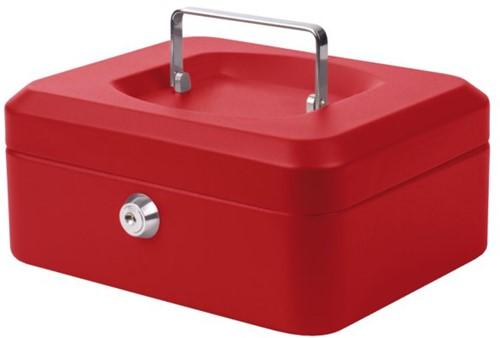 Geldkist Pavo 200x160x90mm rood-2