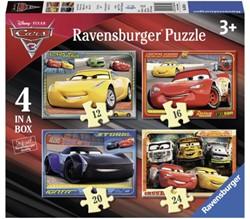 Puzzel Ravensburger Cars 3 4x puzzels 12+16+20+24 stuks