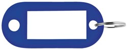 Sleutellabel Pavo kunststof blauw