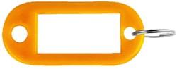 Sleutellabel Pavo kunststof oranje
