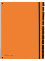 Sorteermap Pagna Trend 12 tabs A4 oranje