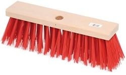 Straatbezem kunstvezels 28cm rode haren gat Ï28mm