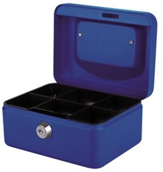 Geldkist Pavo 150x115x80mm blauw