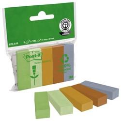 Indextabs 3M Post-it 670/5R papier 5 kleuren