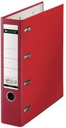 Ordner Bank Leitz A4 80mm PP 2 mechanieken rood