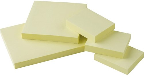 Memoblaadjes Quantore 40x50mm geel-2