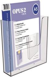 Folderhouder OPUS 2 wand A5 transparant