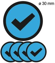 Magneet check 30mm lichtblauw