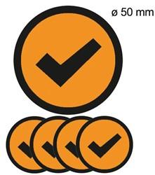 Magneet check 50mm oranje