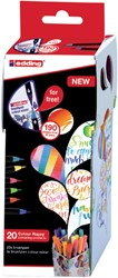 Brushpen edding 1340/20+1 Colour Happy 21-delig assorti