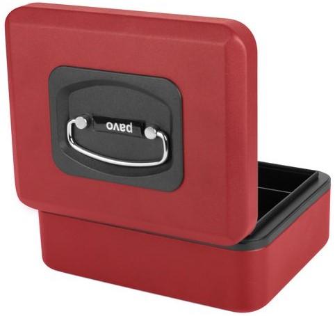 Geldkist Pavo Deluxe 200x160x90mm rood-3