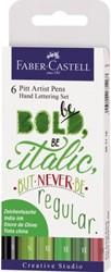 Tekenstift Faber Castell Pitt Artist Handletteringset II assorti