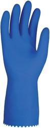 Huishoudhandschoen Nova latex blauw large