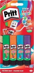Lijmstift Pritt 11gr rainbow 4 stuks blister