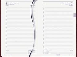 Agenda 2019 Brepols Saturnus kort 1dag/1pagina bordeaux
