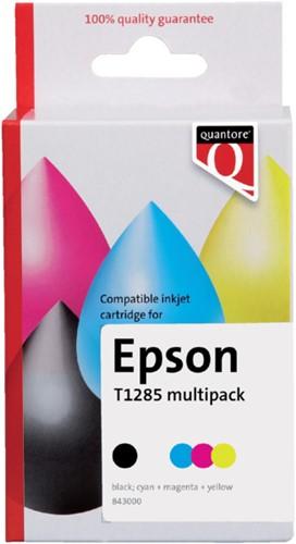 Inktcartridge Quantore Epson T128540 zwart + 3 kleuren